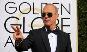 Michael Keaton at this year's Golden Globe awards.
