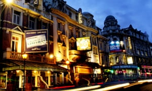 Shaftesbury Avenue at night. Dominic Dromgoole is launching a year-long Oscar Wilde season in the West End.