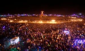 Participants fill the Playa as about 70,000 people from all over the world gather for the Burning Man festival.