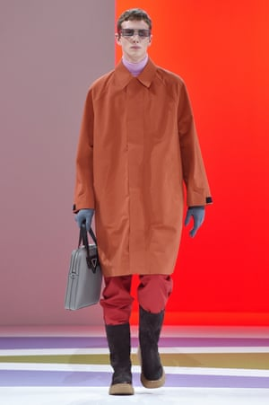 An outfit from the autumn/winter 2020 Prada men's collection.