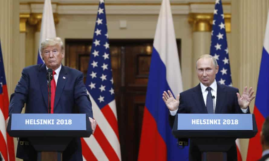 Donald Trump failed to condemn Kremlin hacking at his notorious joint press conference with Vladimir Putin at Helsinki in 2018.