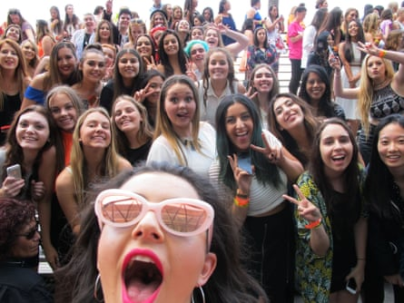 Charli XCX takes a selfie with fans before the ARIA Awards on November 26, 2014 in Sydney, Australia