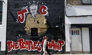 A Jeremy Corbyn mural in Camden, London.