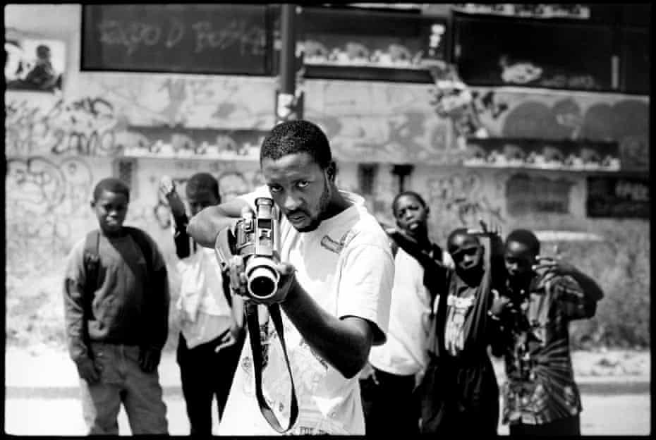 The camera as weapon … Les Misérables director Ladj Ly in Montfermeil, 2004.