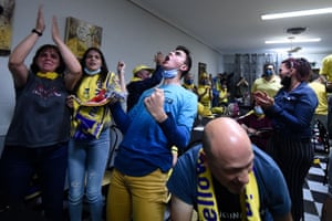 Back in Spain the party is just getting started for the Villarreal fans.