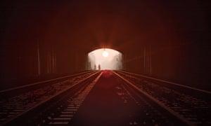 The morning sun shines through Brunel's Box tunnel near Bath on the engineer's birthday.