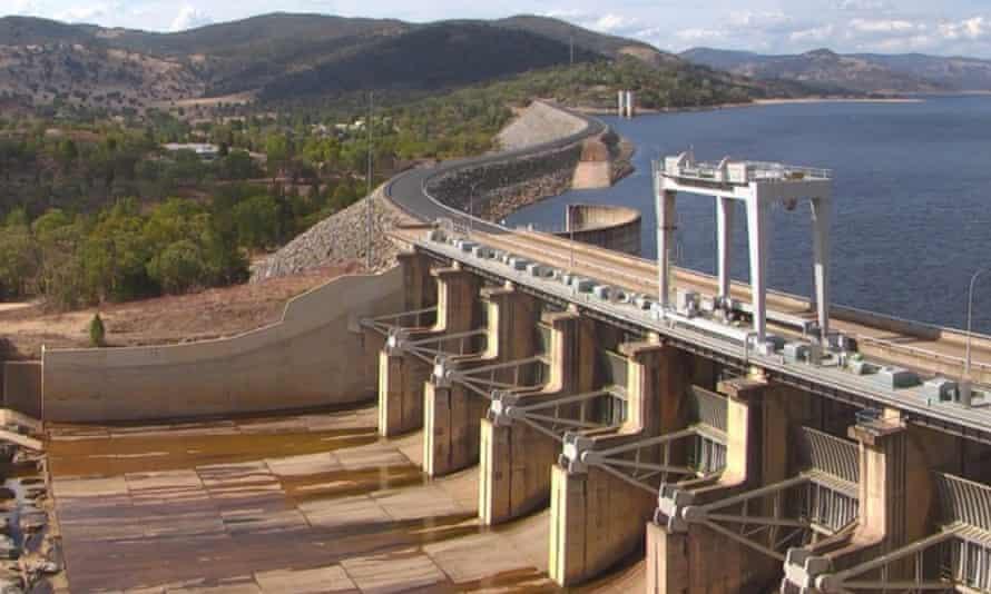 A spillway at Wyangala Dam