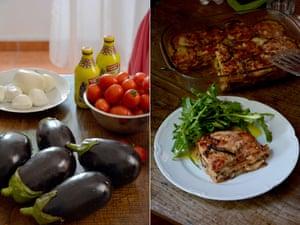 Rachel Roddy's parmigiana di melanzane.