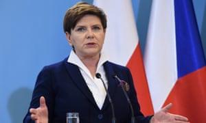 Prime minister Beata Szydło