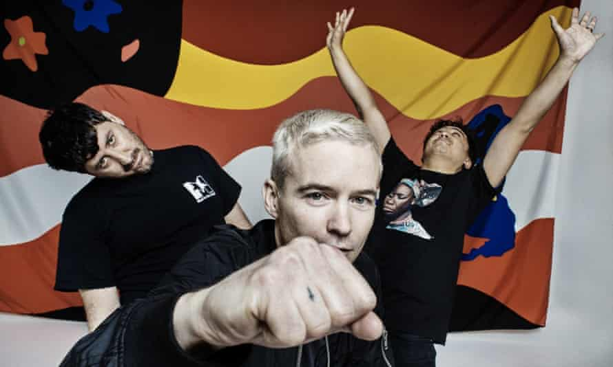 Sonic trawlers: Tony DiBlasi, Robbie Chater and James Dela Cruz of the Avalanches.