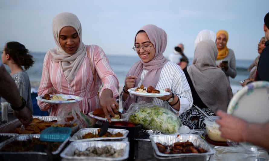 An iftar in Long Beach, New Jersey.