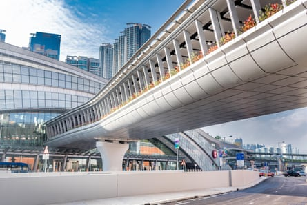 Hong Kong's West Kowloon Station connects to mainland China.