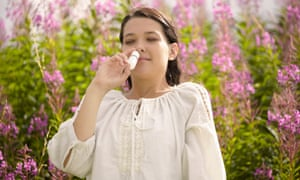 Nasal sprays can help with hay fever symptoms.