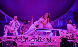 Nerve-jangling falsetto ... Ariana Grande.