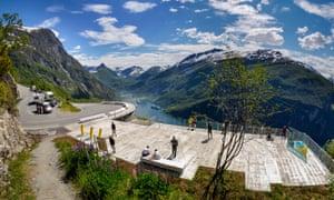 A scenic pit stop on the winding Trollstigen – 'Troll's Road' – part of the Norwegian Scenic Route.