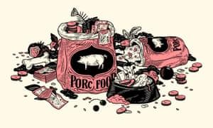Pig food illustration