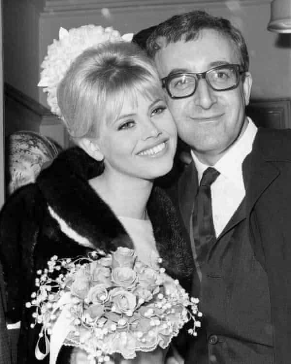 Peter Sellers and Britt Ekland marry at Guildford register office in 1964.