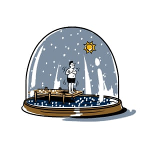 Hockey weed and taxes 11 canadian stereotypes debunked world illustration of a canadian in a snow globe sciox Image collections