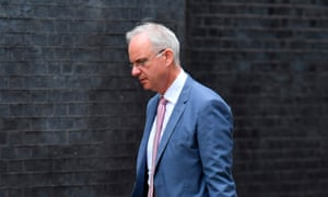 Senior vice president IBM Europe and deputy chairman of the supervisory board at E.ON SE, Erich Clementi, arrives at Downing Street for the meeting.