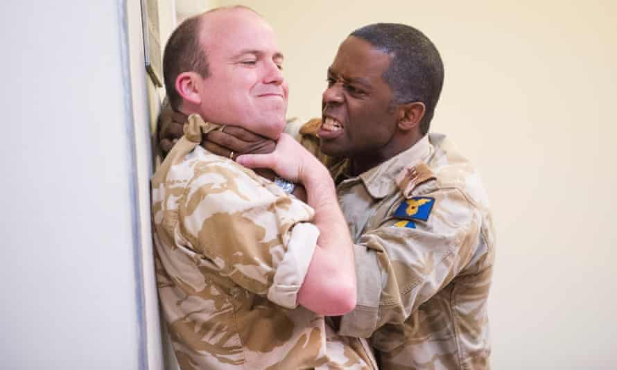 Rory Kinnear as Iago and Adrian Lester as Othello at the National Theatre in 2013.