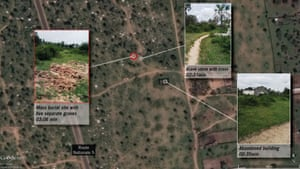 Mass graves in Buringa, 12km north of Bujumbura with before and after images of the 11 December 2015 killings.