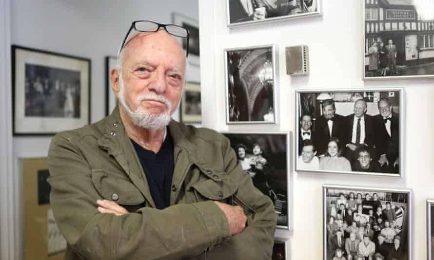 Hal Prince in his office in New York, 2015.