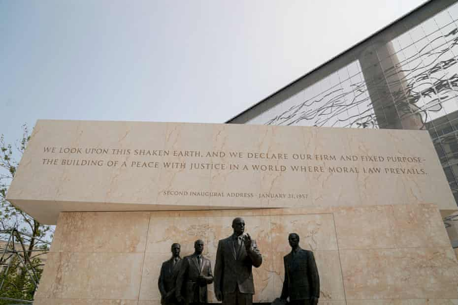 Gehry's $150m Eisenhower Memorial in Washington. Gehry said: 'Eisenhower was a giver of his life and time for the community and the world at large, so it's not bombastic and it's trying to be more modest.'