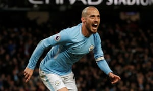 David Silva celebrates scoring Manchester City's winner against West Ham United