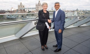 Lianne Dalziel and Sadiq Khan at City Hall in London