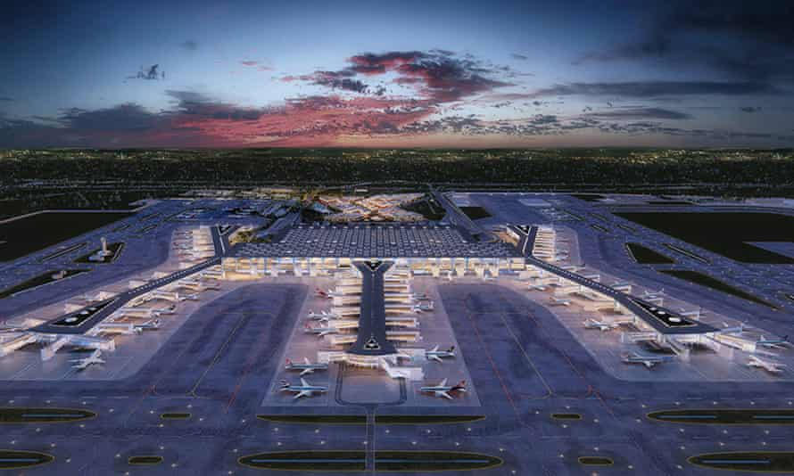 When finished in 2027, Istanbul's new airport will have six runways and four terminals capable of accommodating 200 million passengers a year.