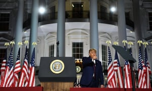 'In the alternate reality described by many of the convention speakers, Trump is a warm, empathetic human being and an exemplar of presidential conduct.'