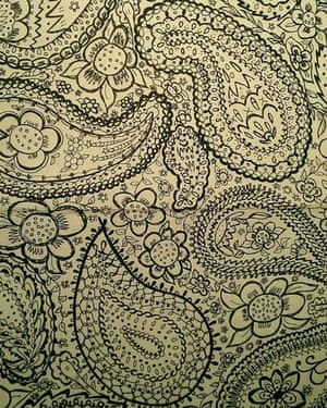 What your work doodles really say about you guardian careers the paisley floral doodle with black biro solutioingenieria Gallery
