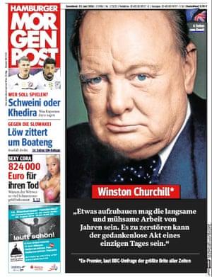 Germany newspaper front page 25 June 2016 European Referendum David Cameron resignation