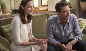 Gal Gadot and Jon Hamm in Keeping Up With the Joneses.