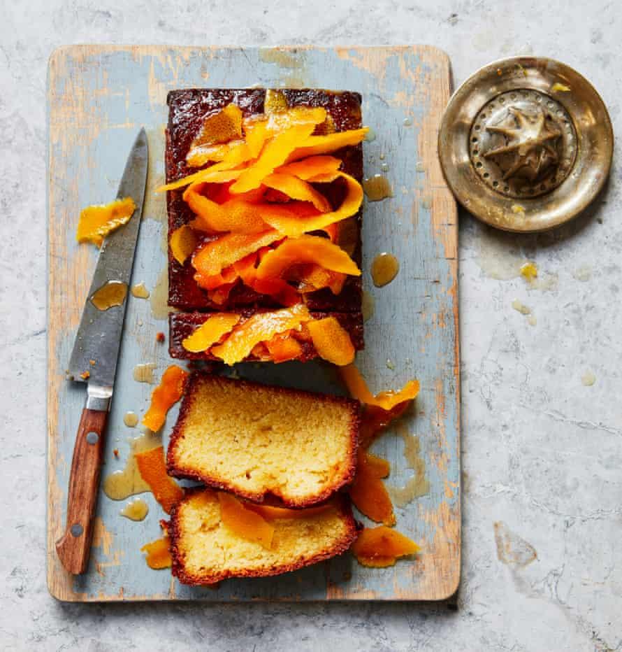 Tamal Ray's Blood orange syrup loaf cake.