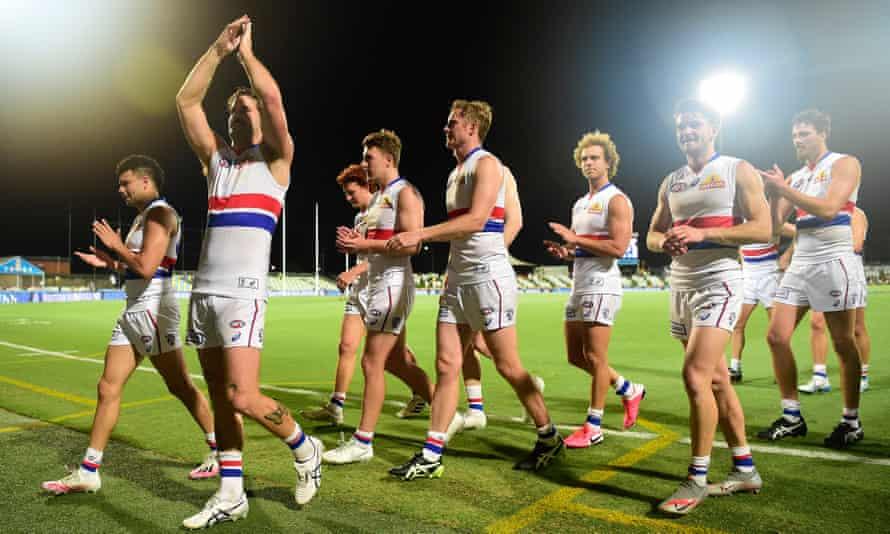 The Bulldogs celebrate