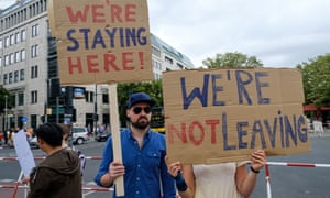 British expats protest against Brexit in the runup to the 2016 referendum.