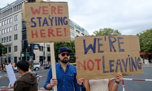 British citizens protest against Brexit in Berlin last year.