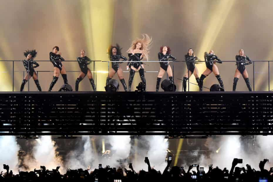 Beyonce performs on stage atthe Principality Stadium on June 6, 2018 in Cardiff, Wales.