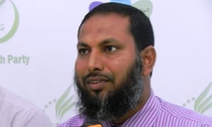 Maldives opposition party leader Sheikh Imran Abdulla has been given 12 years' jail over a May 2015 demonstration.