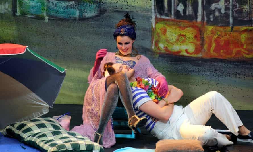 Held captive … Anna Devlin as Alcina and Nick Pritchard as Ruggiero in La Liberazione di Ruggiero.