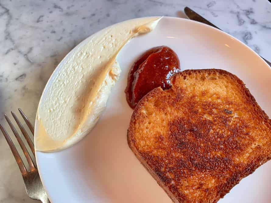 Jam and toast with butter