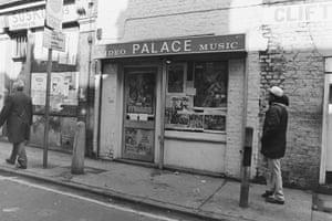 Video shop in Hanbury street, off Brick Lane 1986