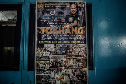 Poster promotes the 'Tokhang' campaign.