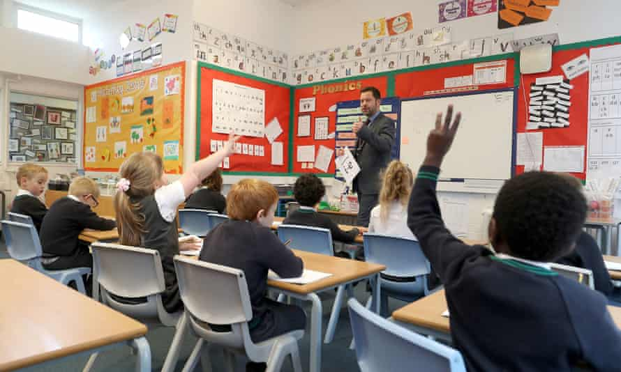 File photo dated 5/11/2020 of pupils during a lesson in a classroom in England.