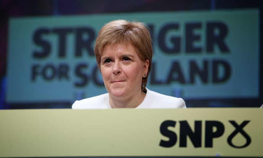 First Minister Nicola Sturgeon on stage