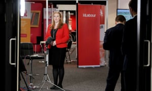 Angela Rayner, the shadow education secretary, giving a broadcast interview this morning.
