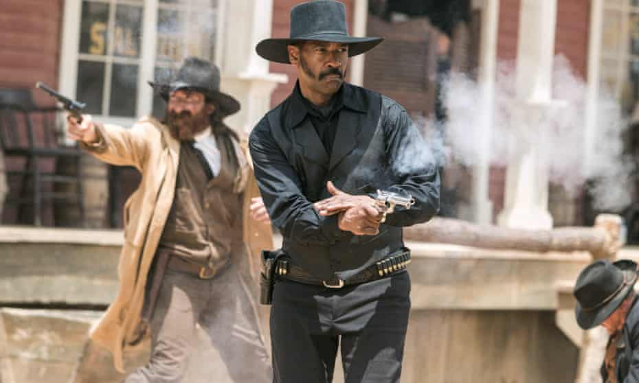Crying out to be centre-stage ... Denzel Washington in The Magnificent Seven (2016).