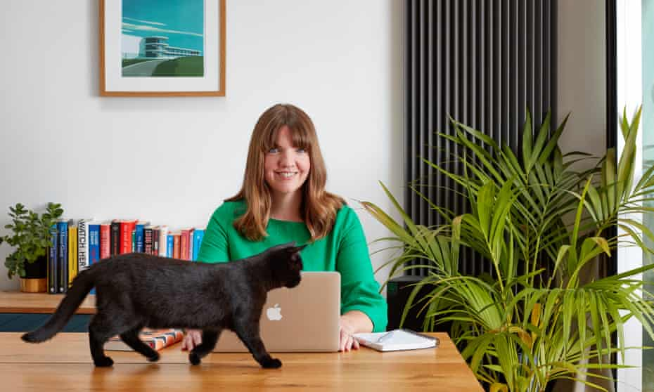Rather an impressive tale… Charlotte Northedge at work.