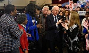 Larry David as Bernie Sanders.